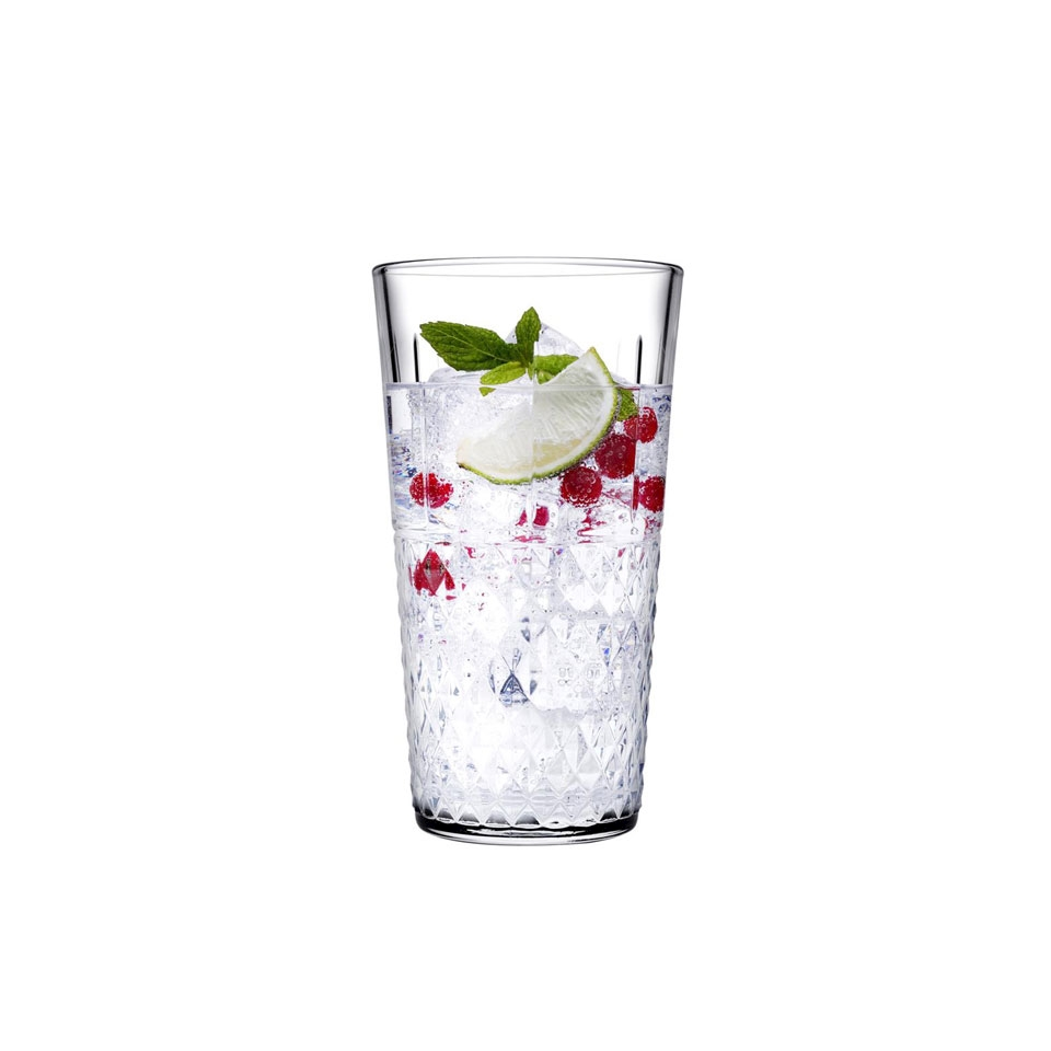 Bicchiere impilabile long drink Highness Pasabahce in vetro