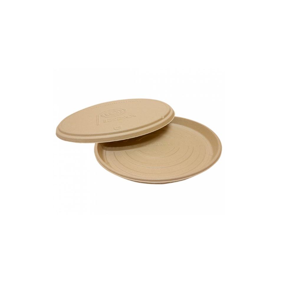 Coperchio per piatto pizza Bionic in bagassa naturale cm 36,4