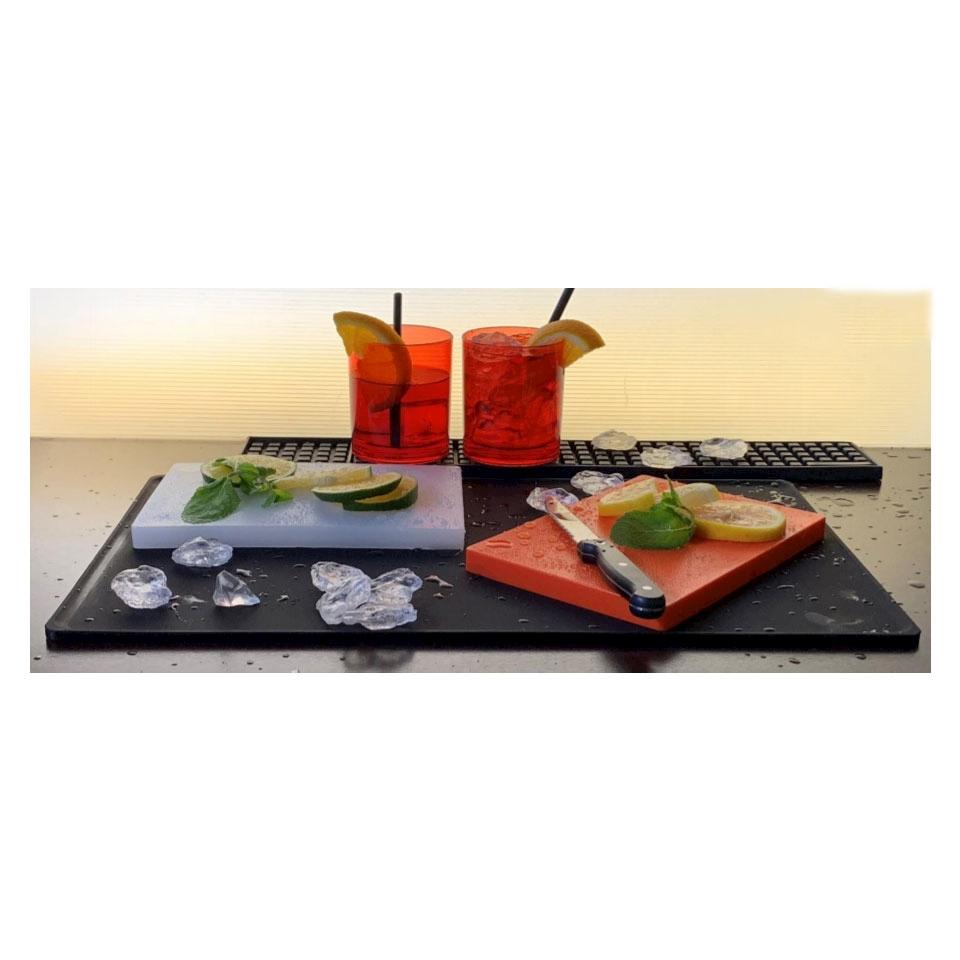 Tagliere Spritz in polietilene goffrato in colori assortiti cm 22x15x1,5