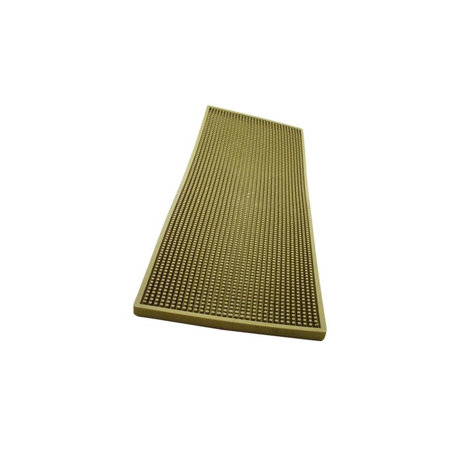 Bar mat in gomma con griglia in acciaio cm 60x20