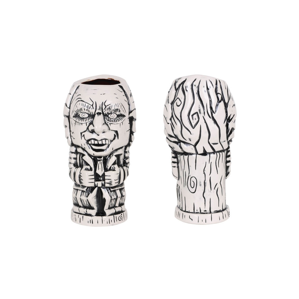 Tiki mug Crazy in porcellana bianca a nera cl 62
