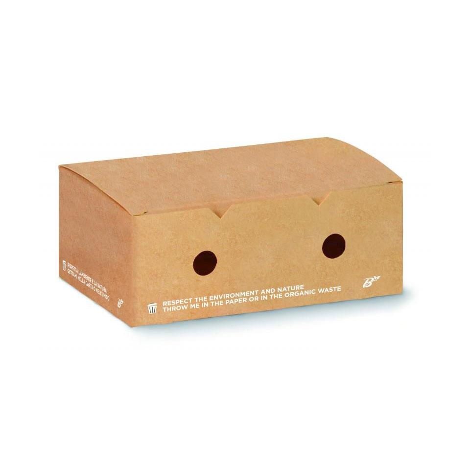 Contenitore per crocchette in carta marrone cm 12x10x7