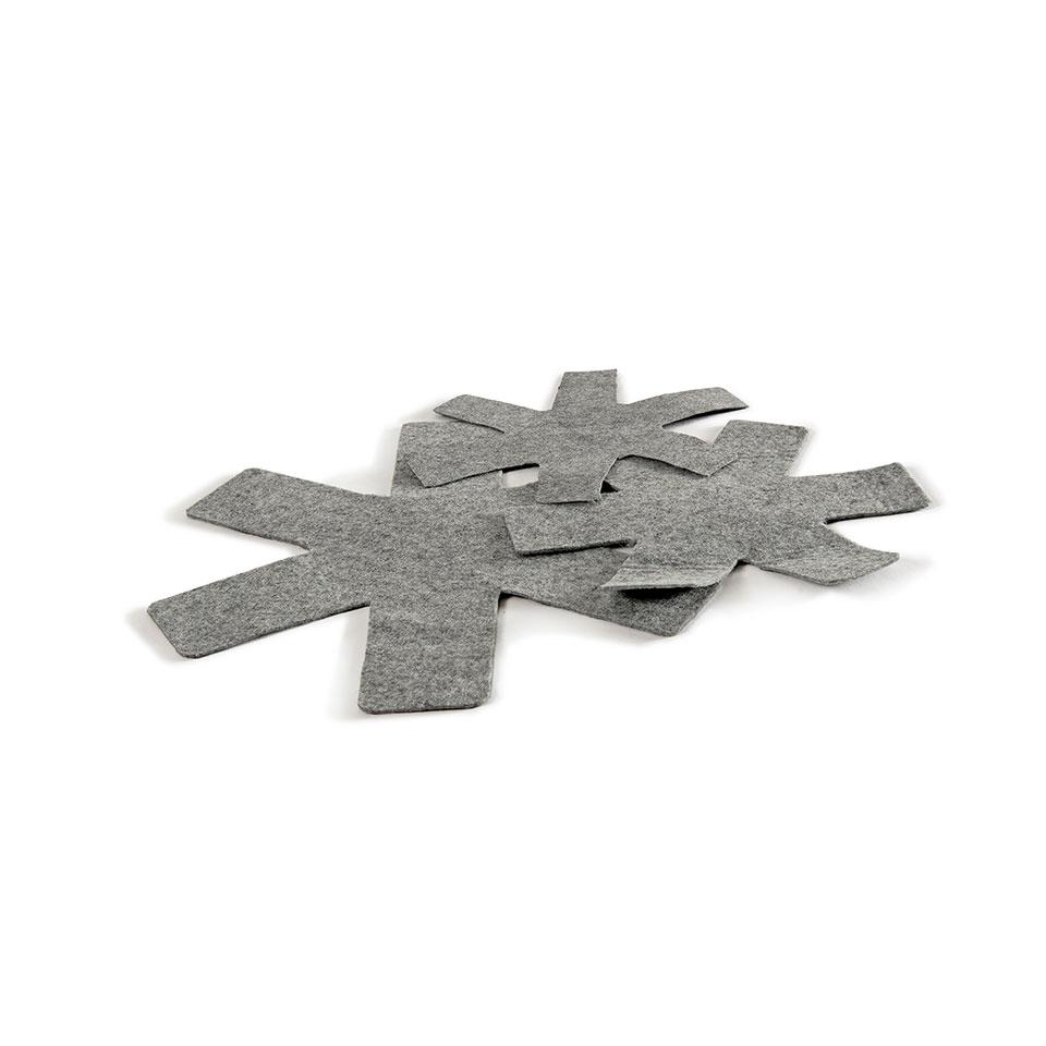 Salvapadelle in feltro grigio cm 30-34-38
