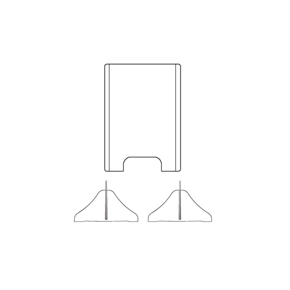 Barriera di sicurezza in plexiglass trasparente cm 60x50