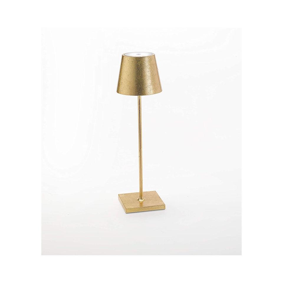 Lampada ricaricabile da tavolo Poldina Zafferano in alluminio cm 38