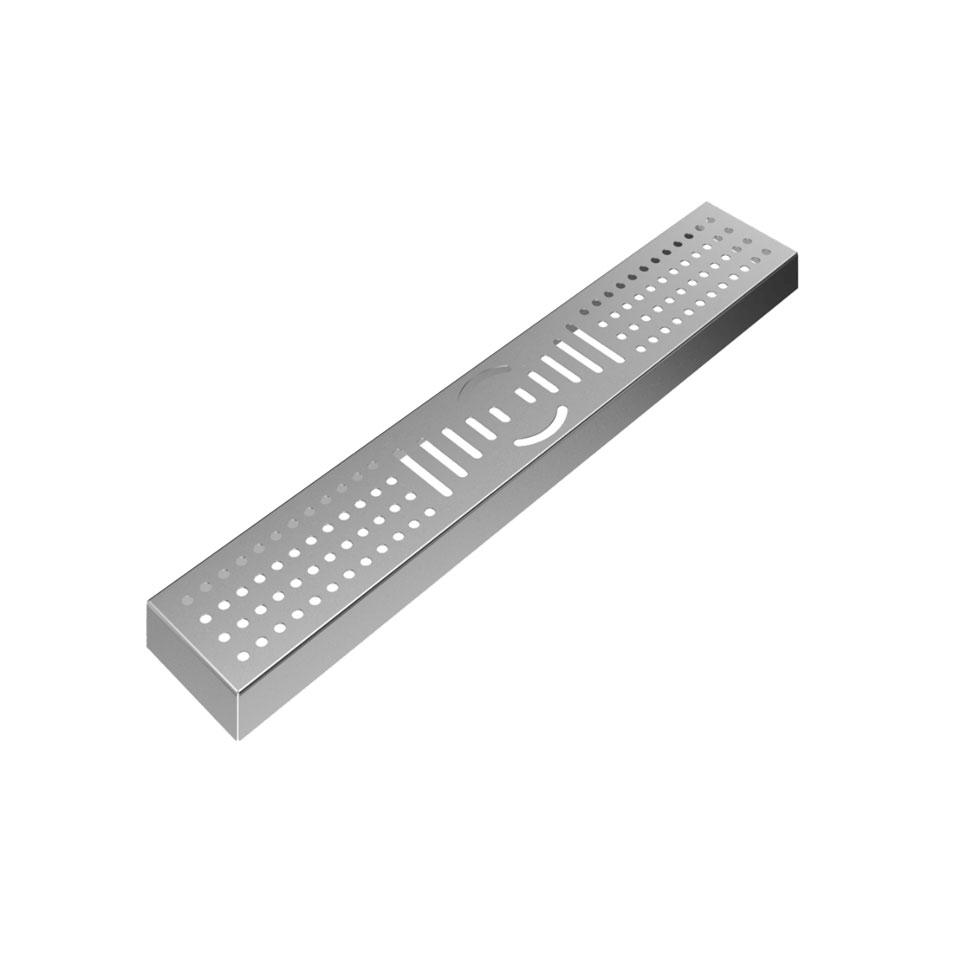 Bar mat con griglia in acciaio inox