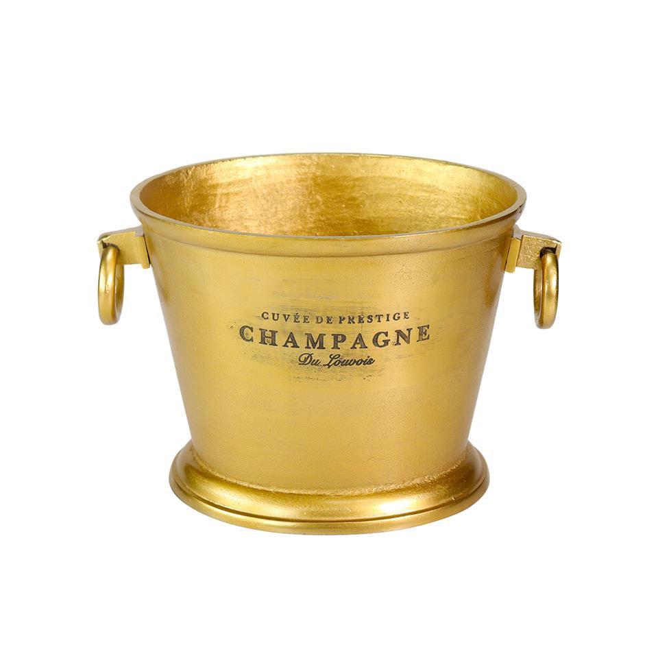 Secchiello vino e champagne con scritte in alluminio cm 32x26x25