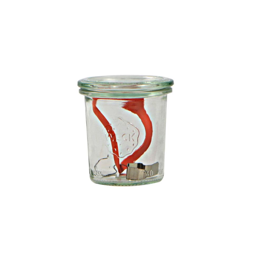 Vasetto Weck 900 con coperchio guarnizione e ganci in vetro cl 29