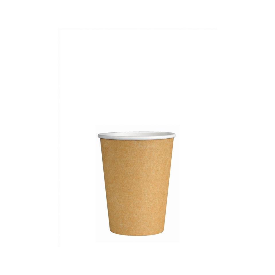 Bicchiere caffè in cartoncino avana cl 12