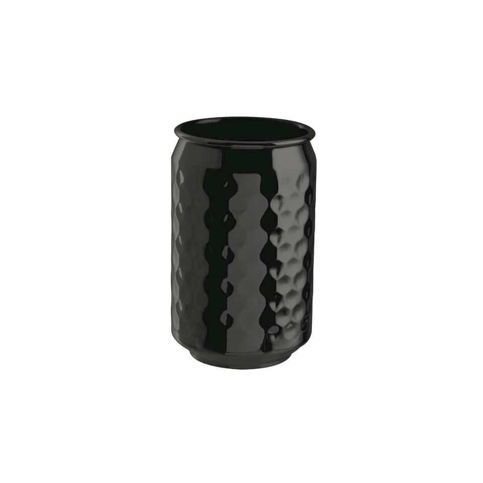 Bicchiere lattina in acciaio inox martellato cl 49
