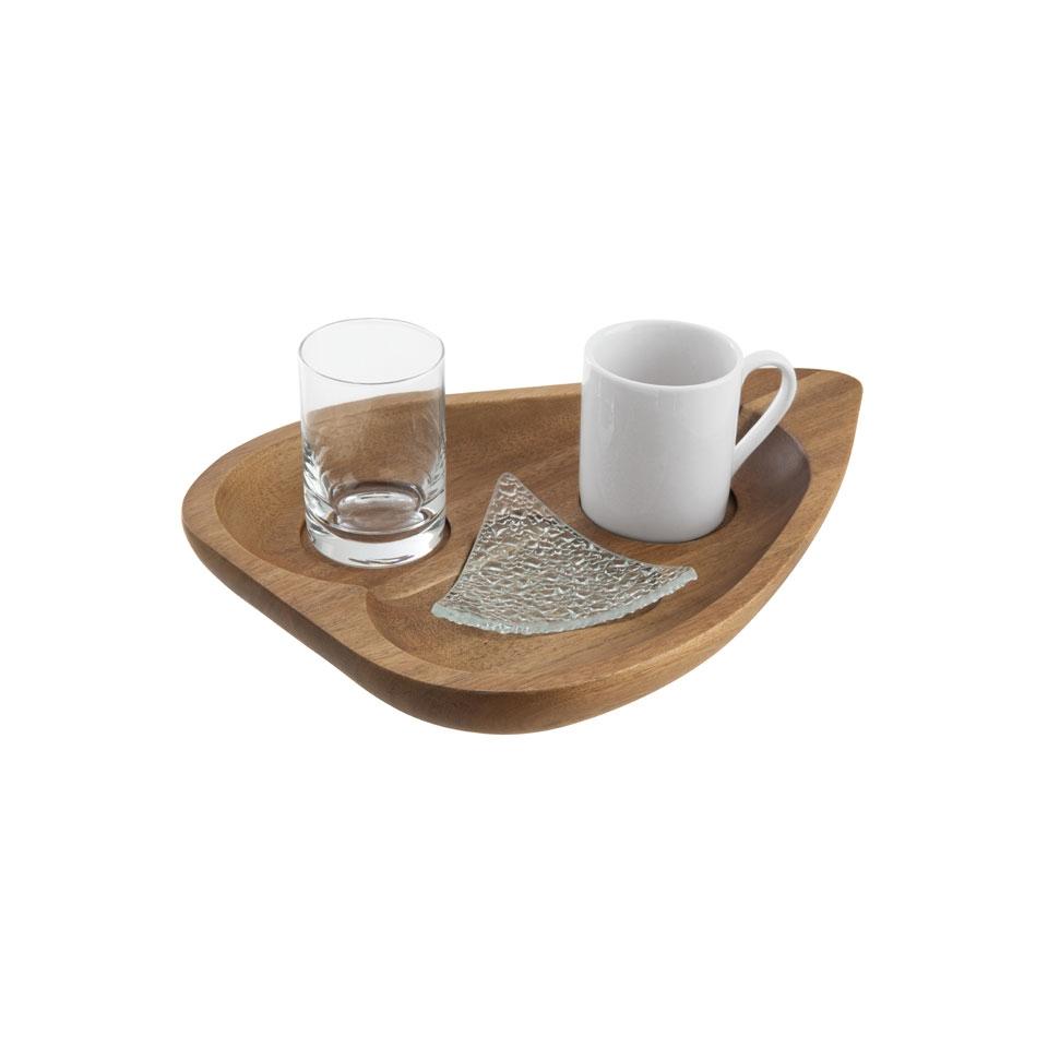 Set caffè 4 pezzi cm 25x18,7