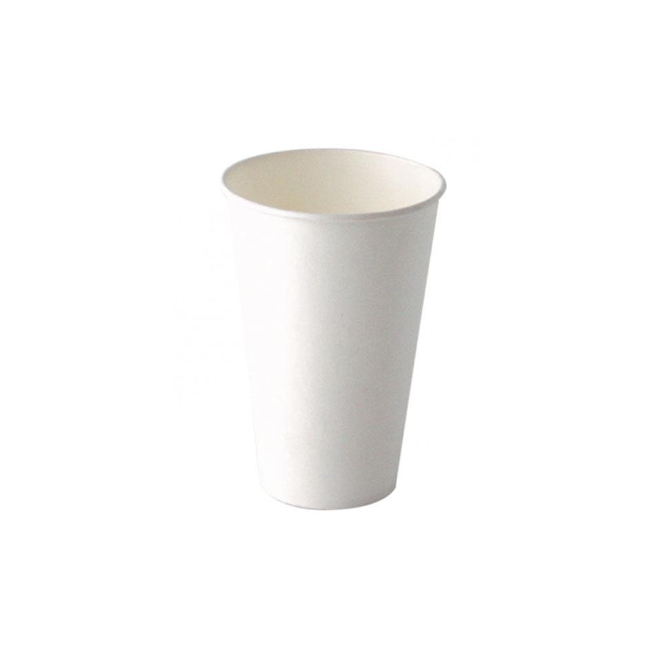 Bicchiere cappuccino in carta bianca