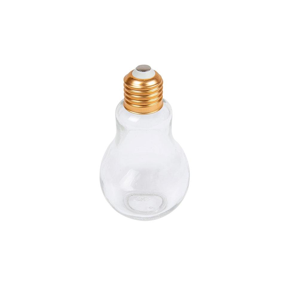 Bicchiere lampadina in vetro con tappo in alluminio