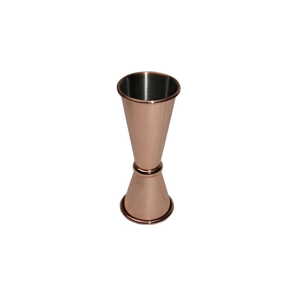 Jigger slim in acciaio inox ramato 25-50 ml