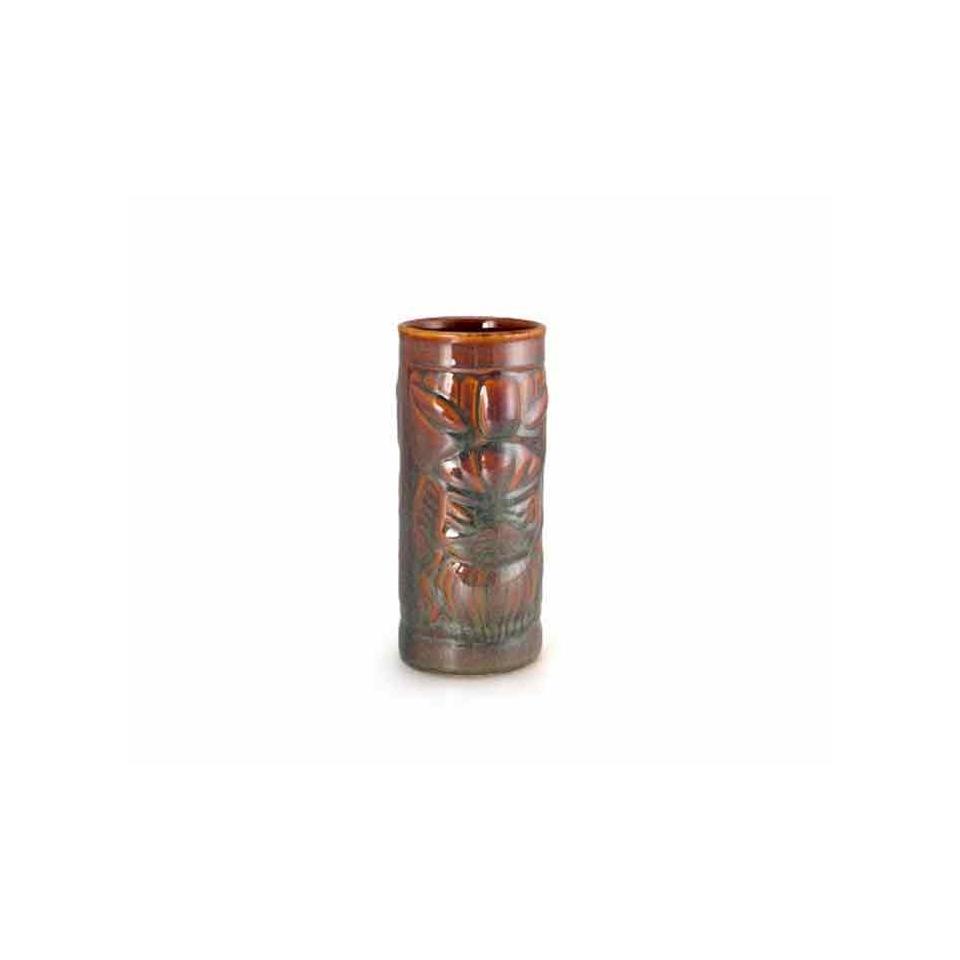 Bicchiere Tiki Totem in ceramica kiwi cl 49,5