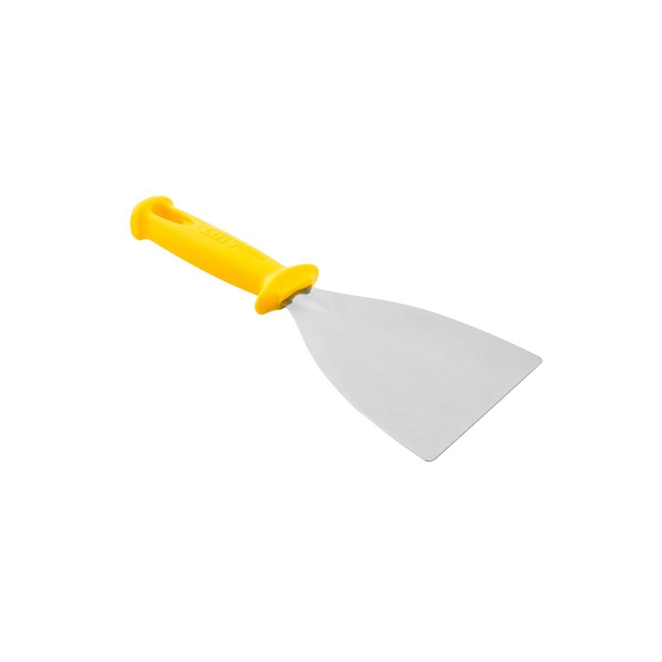 Spatola triangolare in acciaio inox e plastica cm 12