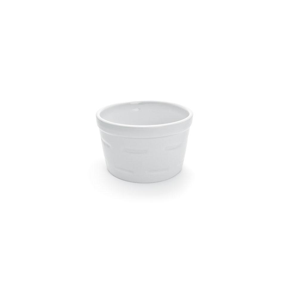 Stampo soufflè cordonato impilabile in porcellana bianca cm 8x4,5