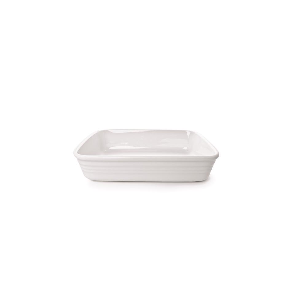 Pirofila rettangolare Gastronomia in porcellana bianca cm 32x22x6