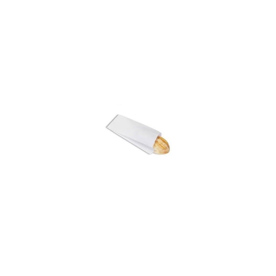 Sacchetti monouso per asporto di carta bianca cm 19 x 40