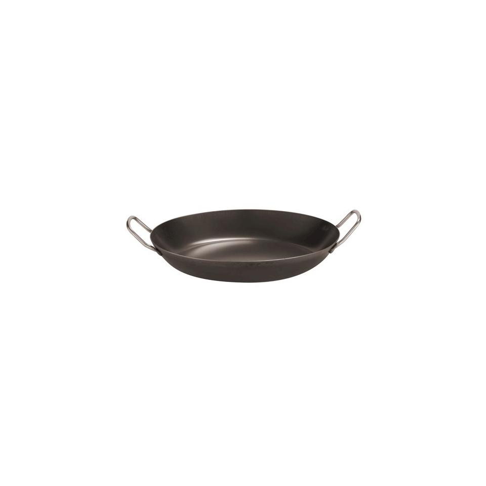 Padella per paella Paderno, ''Paellera'' risotto in ferro diametro cm 34