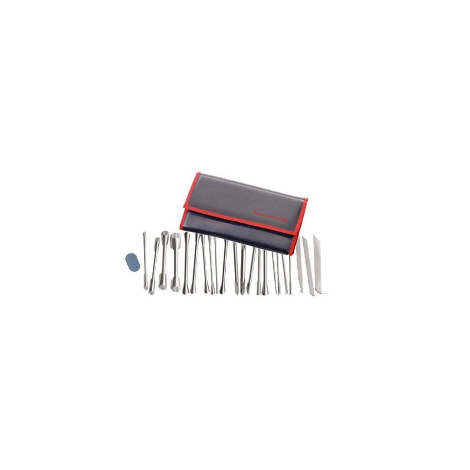 Pochette attrezzi Paderno per decoro 22 pezzi acciaio
