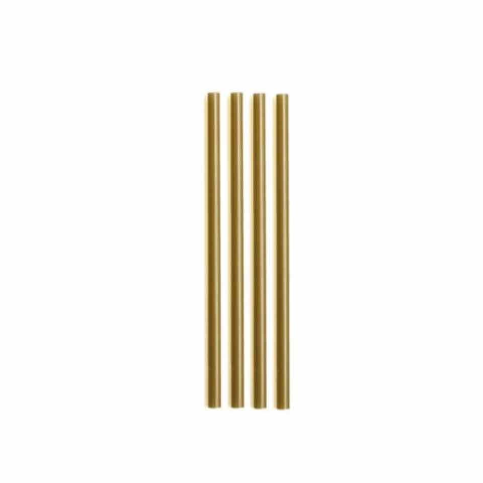 Cannuccia drinking straw plastica cm 21 oro