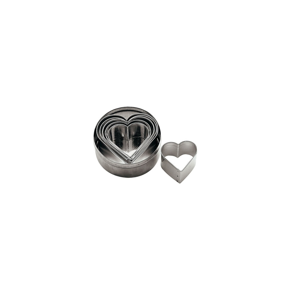 Tagliapasta a forma di cuore confezione da 6 pezzi