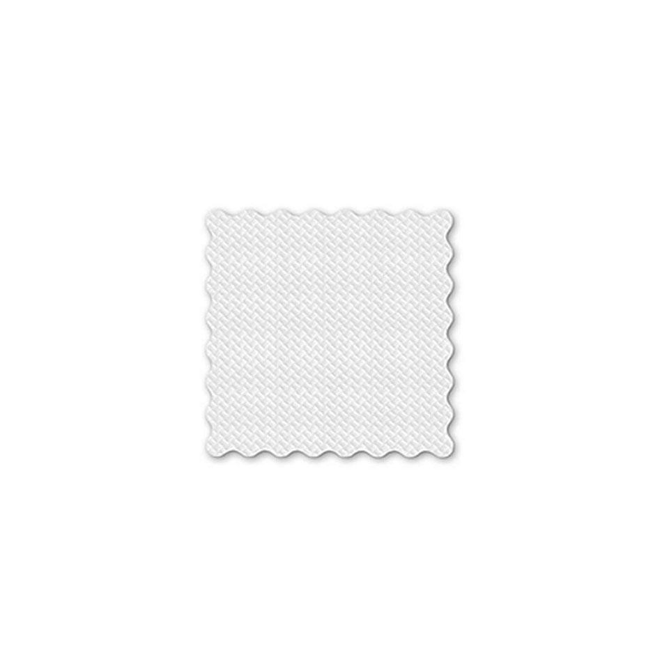 Tovagliolo in cellulosa 1 velo cm 16 x 16 smerlato bianco