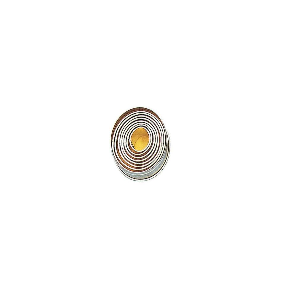 Tagliapasta ovale liscio Paderno in acciaio inox in confezione da 9 pezzi