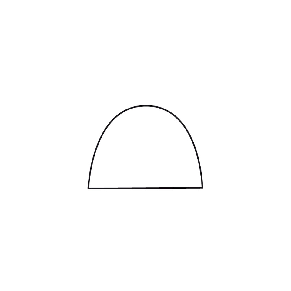 Stampo tronco in plastica bianca cm 48