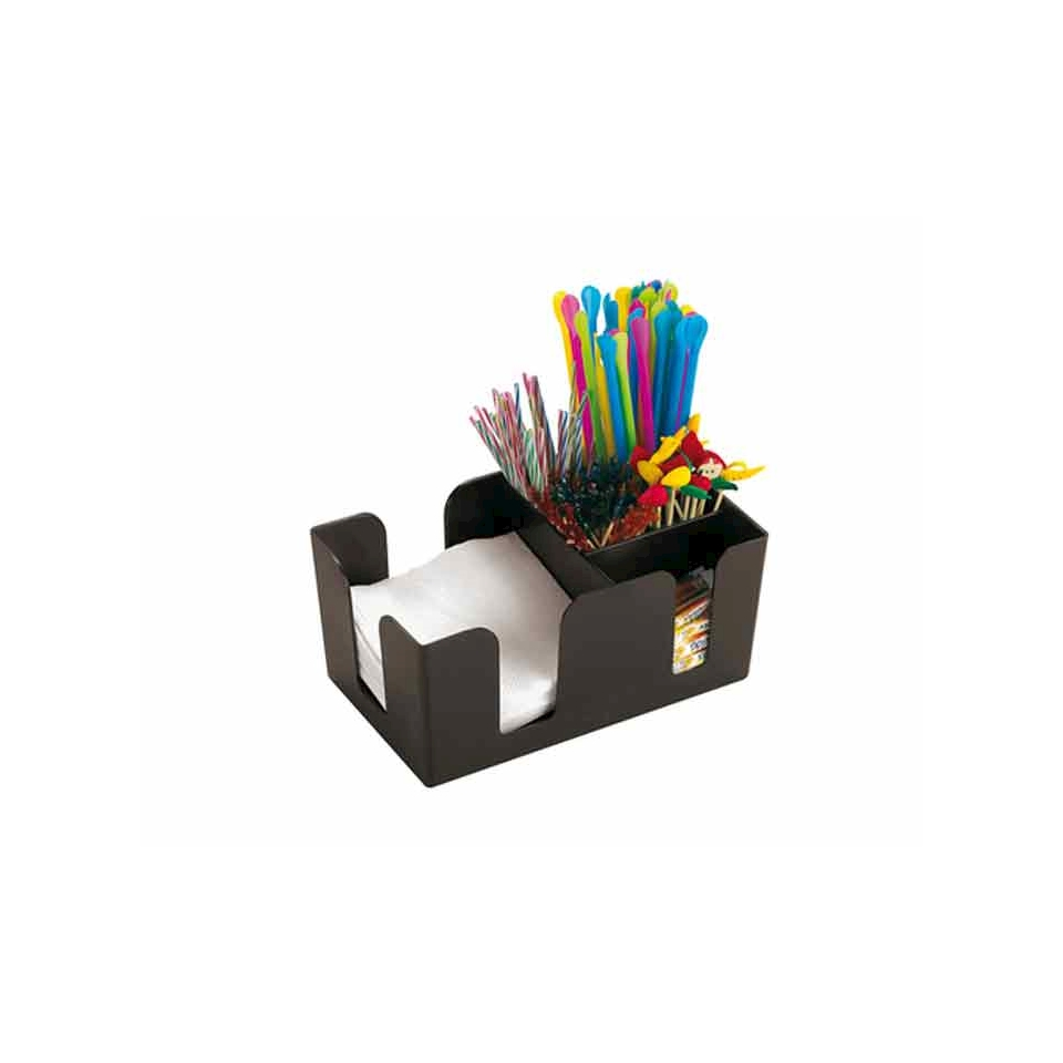 Bar Caddy Paderno in plastica nera cm 24x11