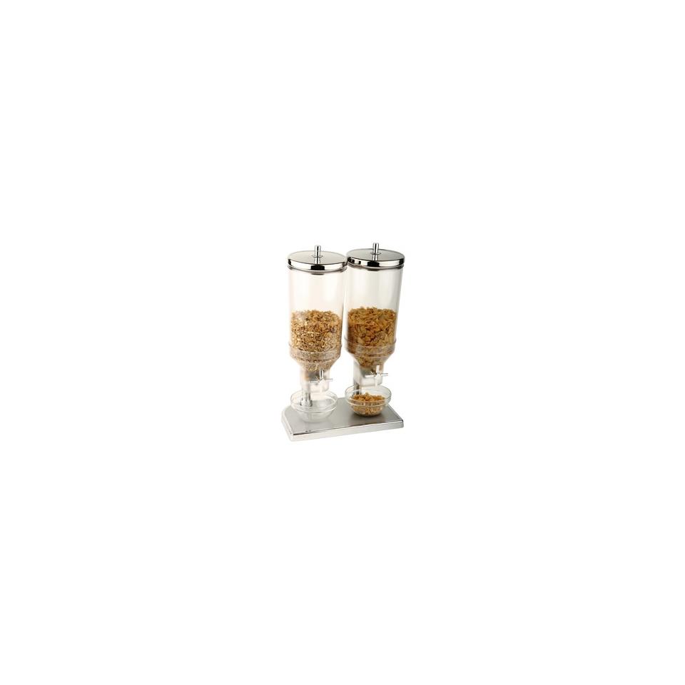Distributore per cereali in plastica e acciaio inox lt 4,5