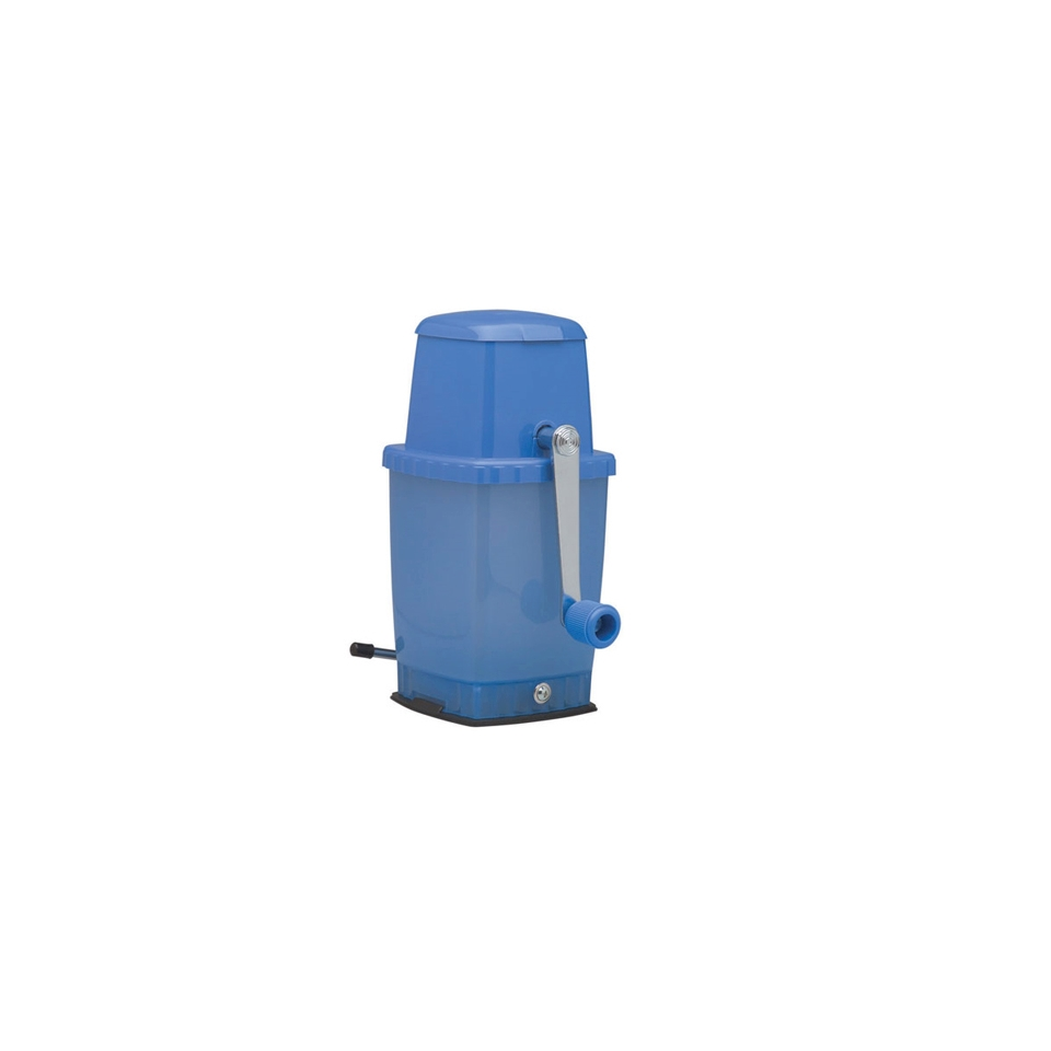 Tritaghiaccio manuale Piazza plastica 24cm blu