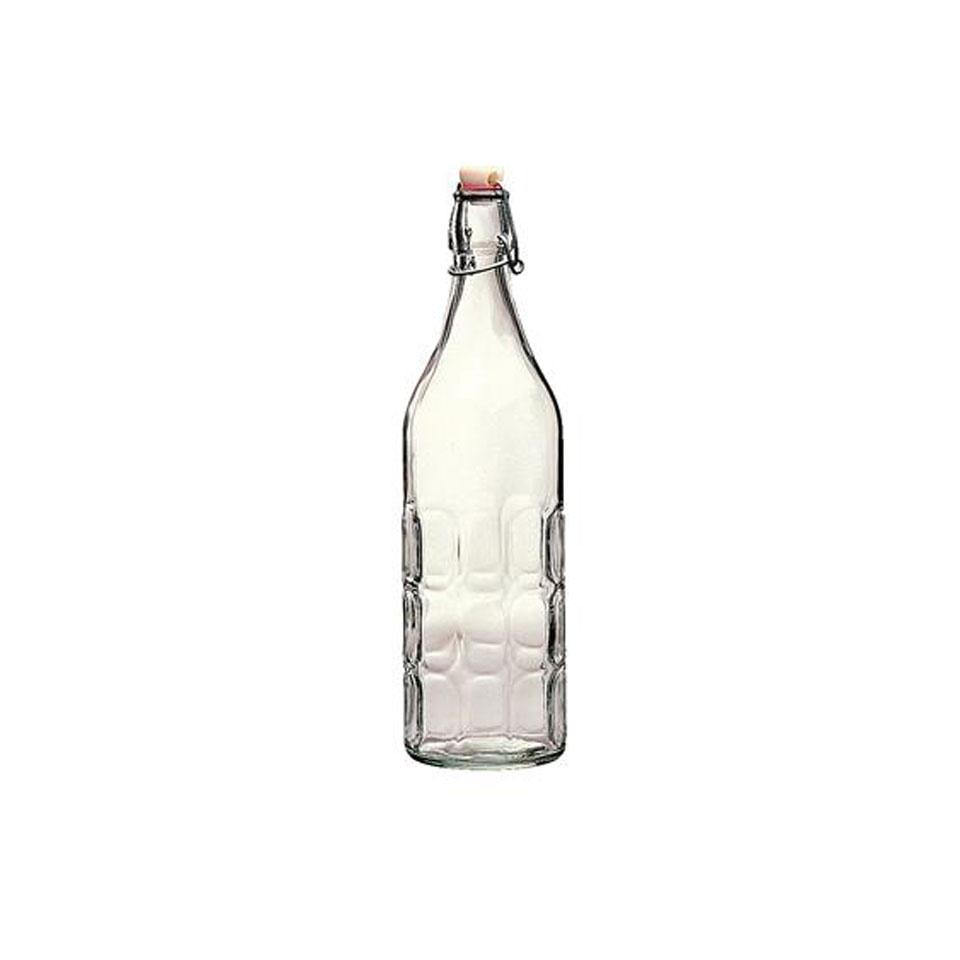 Bottiglia Moresca Bormioli Rocco con tappo ermetico in vetro lt 1
