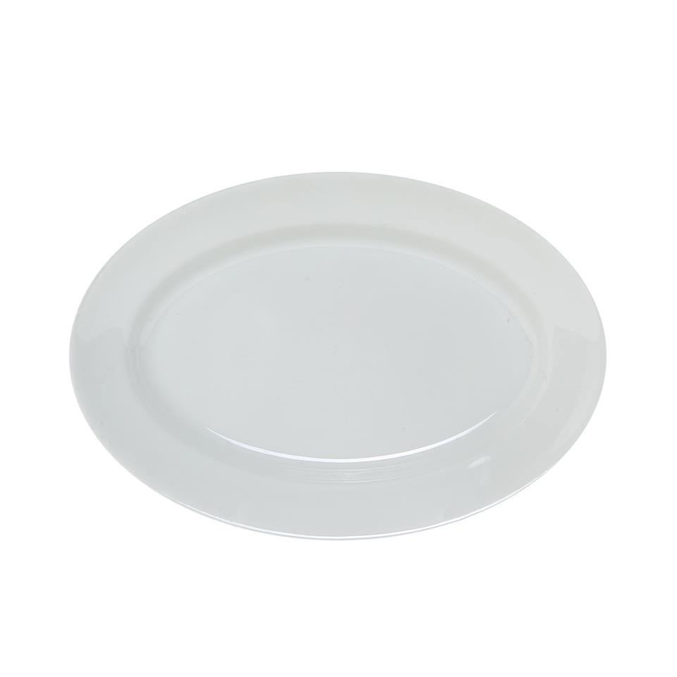 Piatto ovale in porcellana bianco cm 23 x 15
