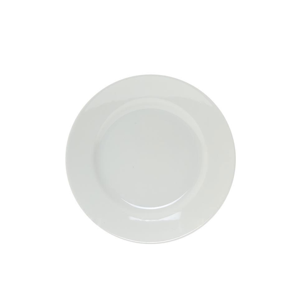 Piatto frutta in porcellana bianco cm 20