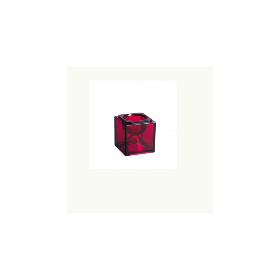 Base bicchiere Cubik Arcoroc rosso cm 8x8