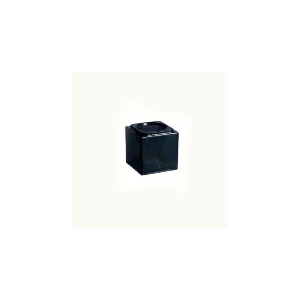 Base bicchiere Cubik Arcoroc nero cm 8x8