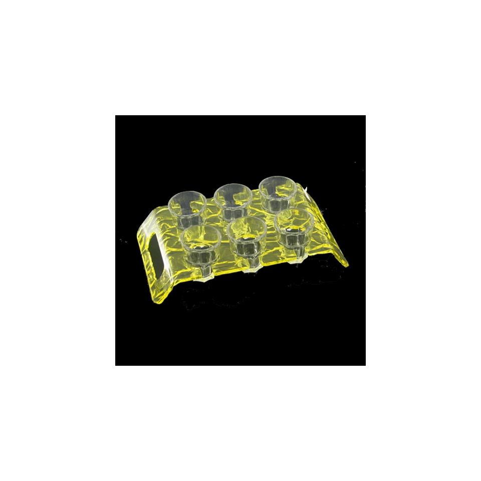 Vassoio portachupito Aladino plexiglass 24,7x14cm giallo