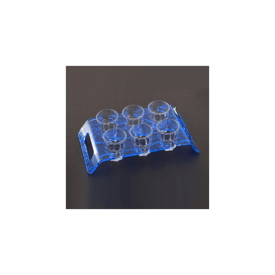 Vassoio portachupito Aladino plexiglass 24,7x14cm blu