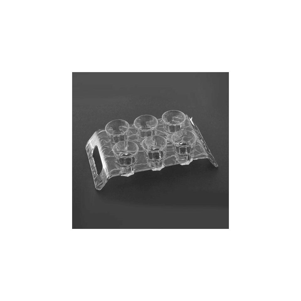 Vassoio portachupito Aladino plexiglass 24,7x14cm trasparente