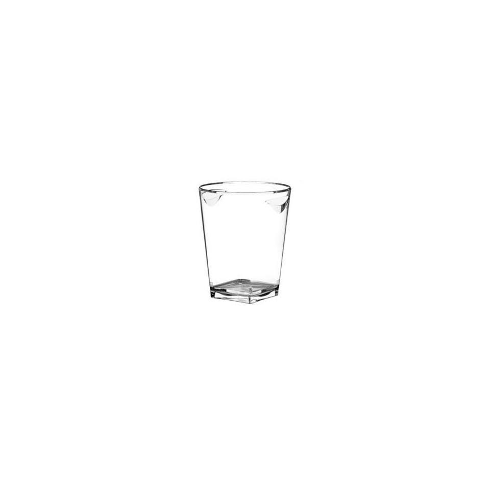 Secchiello ghiaccio trasparente quadrato