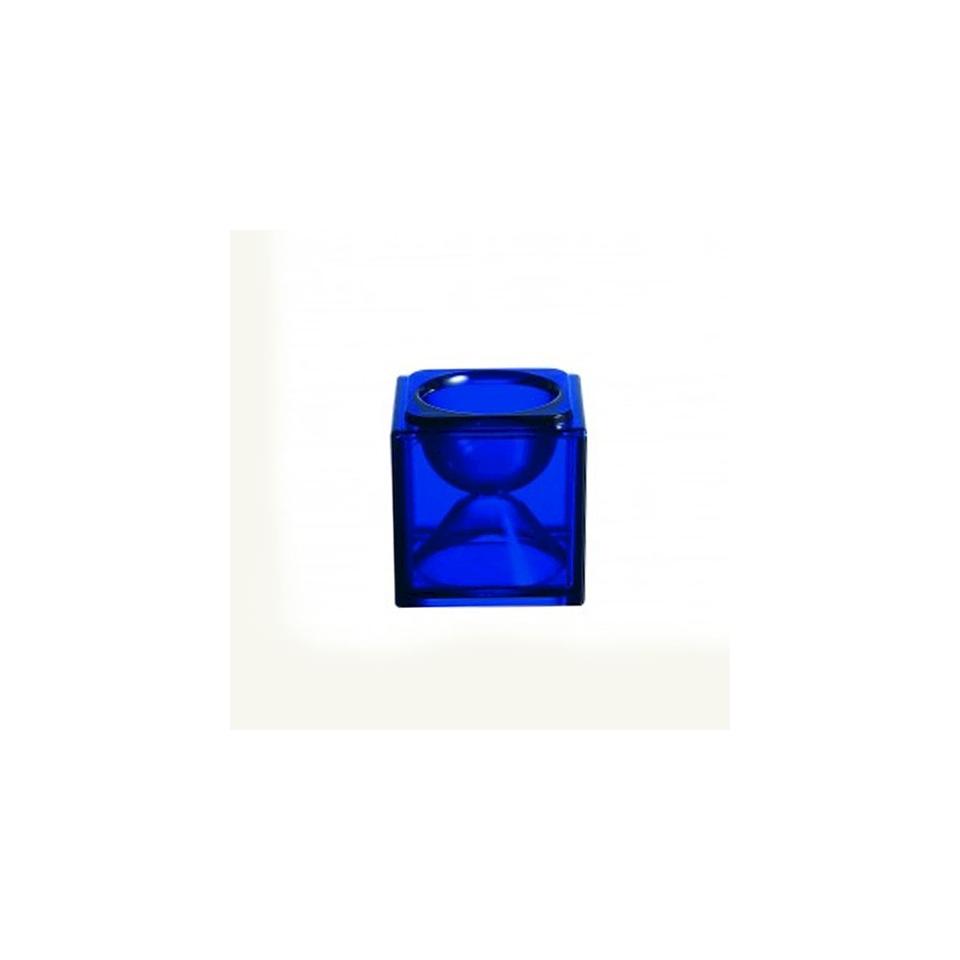 Base bicchiere Cubik Arcoroc blu cm 8x8