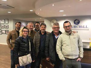 La delegazione della RG Commerciale in visita alla Churchill China